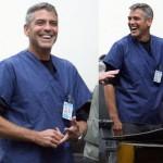 Prime foto di George Clooney di nuovo sul set di E.R.