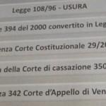 Il Tribunale di Enna segue la sentenza 350/2013: usura contrattualizzata. E' la seconda volta, la giurisprudenza avanza.